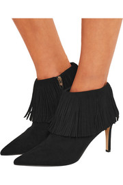 Kandice fringed suede ankle boots