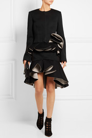 Ruffled modal-jersey jacket
