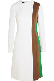Alice color-block stretch-crepe dress