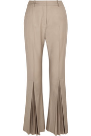 Polly pleated wool flared pants