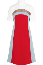 Nico color-block crepe dress