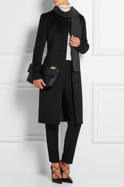 Wool and angora-blend coat