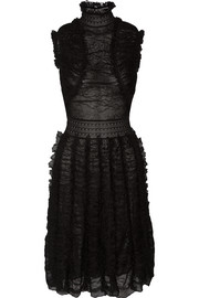Alexander McQueen Ruffled silk-blend lace dress