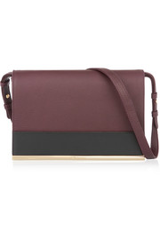 Amy textured-leather shoulder bag