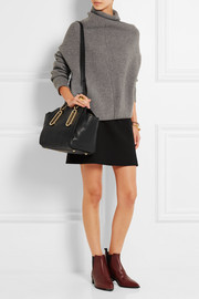 Paige medium textured-leather shoulder bag