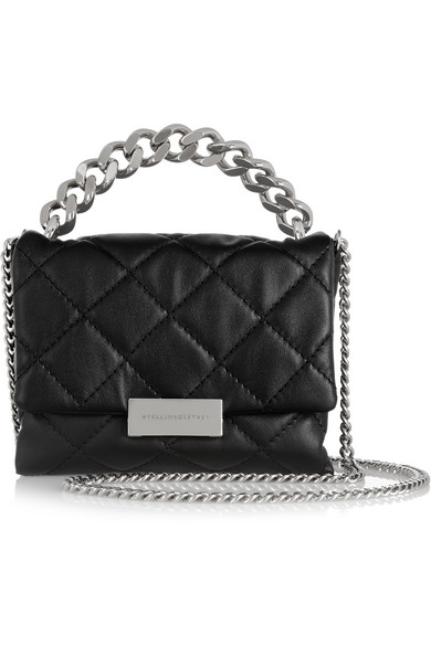 041270129e6c Stella McCartney. Soft Beckett small quilted faux leather shoulder bag