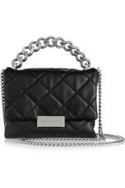 Stella McCartney Soft Beckett small quilted faux leather shoulder bag
