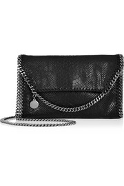 The Falabella mini snake-effect faux leather shoulder bag