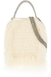 The Falabella tiny faux fur tote
