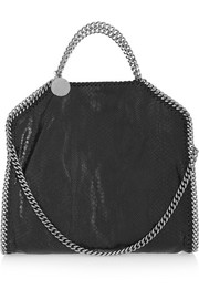 Falabella medium snake-effect faux leather shoulder bag