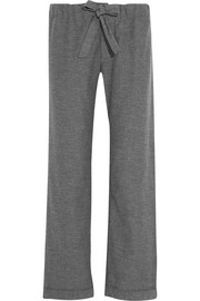 Montana herringbone brushed-cotton pajama pants
