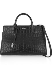Cabas Rive Gauche small croc-effect leather tote