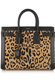 Sac De Jour leopard-print calf hair and leather tote