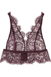 Noir Comme la Robe Chantilly lace soft-cup bra