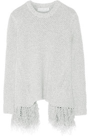 Addition fringed knitted sweater