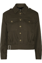 Cotton and wool-blend gabardine jacket