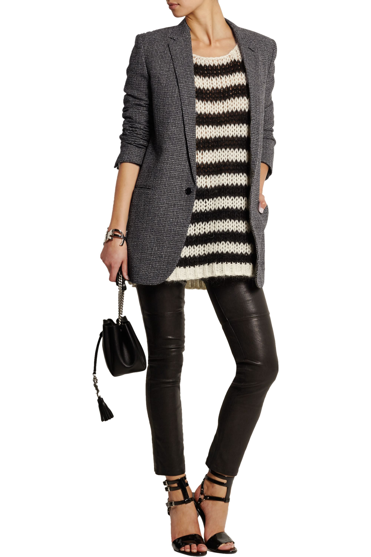 SAINT LAURENT Wool-tweed blazer