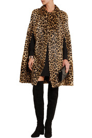 Saint Laurent Leopard-print goat hair cape