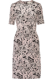 Voluta printed silk crepe de chine dress