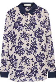 Mary Katrantzou May printed silk-crepe blouse