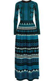 Gayla intarsia stretch-knit maxi dress