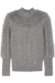Nell cable-knit wool-blend turtleneck sweater