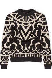 Jani intarsia knitted sweater