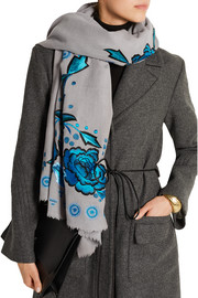 Flutura embroidered wool scarf