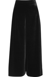 Tuva stretch-velvet wide-leg pants