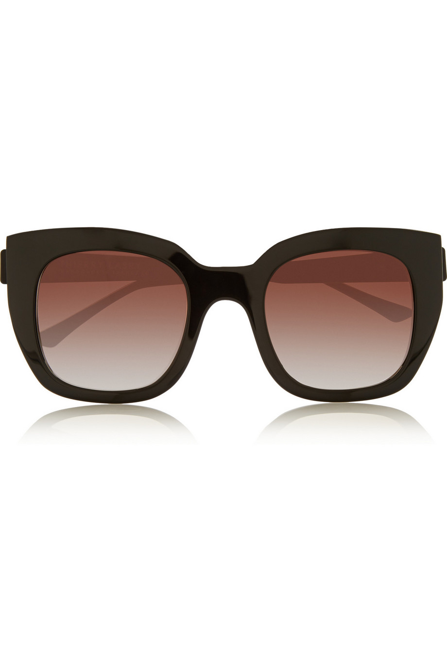 Thierry Lasry Swingy D-Frame Acetate Sunglasses, Black, Women's, Size: One Size