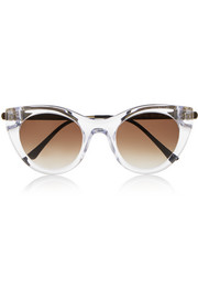 Perky cat-eye acetate sunglasses