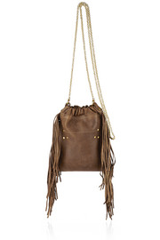 Gary small fringed leather shoulder bag