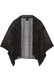 Embroidered tulle and broderie anglaise kimono jacket