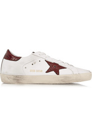 Super Star distressed leather sneakers