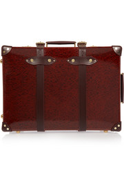 Globe-Trotter Orient leather-trimmed fiberboard travel trolley