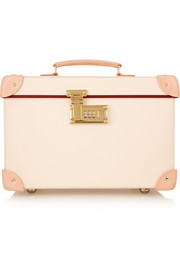 Safari leather-trimmed fiberboard vanity case