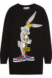 Bugs Bunny intarsia wool sweater dress