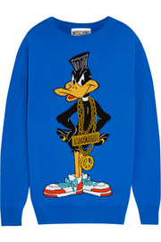 Daffy Duck intarsia wool sweater