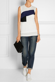 Layered cotton-jersey top