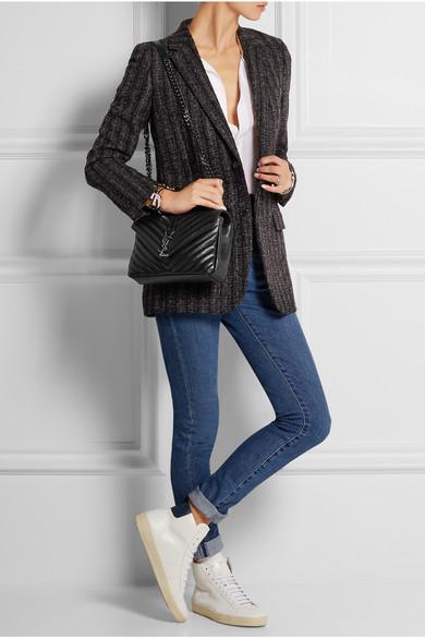 Saint Laurent College Medium Quilted Leather Shoulder