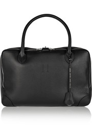 Equipage medium textured-leather tote