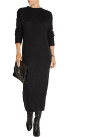 Ribbed mohair-blend sweater dress