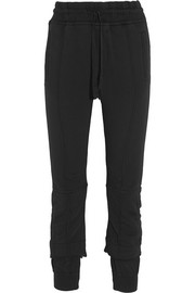 Cotton-terry tapered track pants