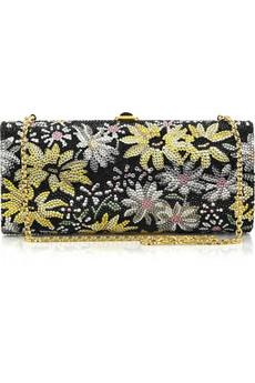 Judith Leiber|Marguerite crystal-embellished clutch|NET-A-PORTER.COM from net-a-porter.com
