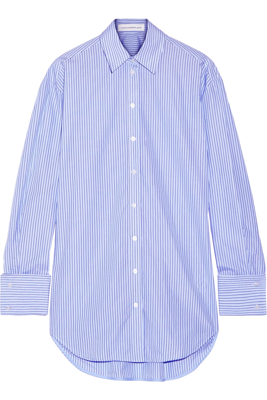 Victoria Beckham Denim Oversized striped cotton-poplin shirt