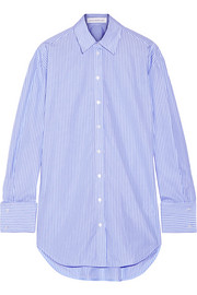 Victoria Beckham Denim Oversized striped cotton-poplin shirt