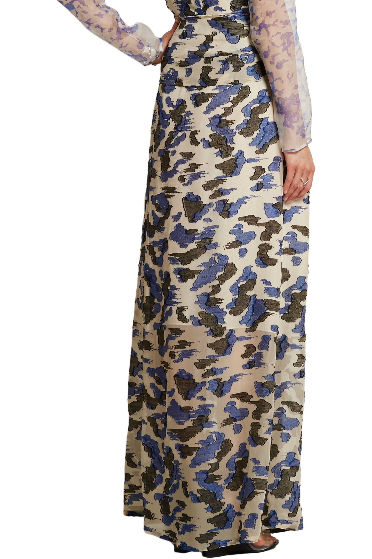 Michael van der Ham Judith fil coupé silk-blend maxi skirt