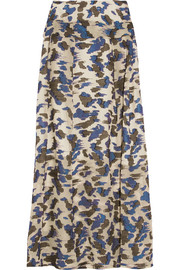 Judith fil coupé silk-blend maxi skirt