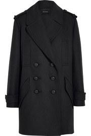 Karly oversized double-breasted wool-blend coat
