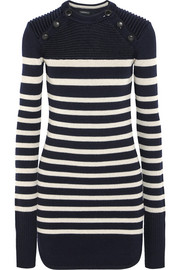 Haeza striped merino wool-blend mini sweater dress